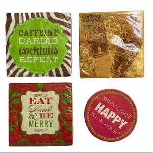 Cocktail Napkins + Coasters: Assorted Happy Hour